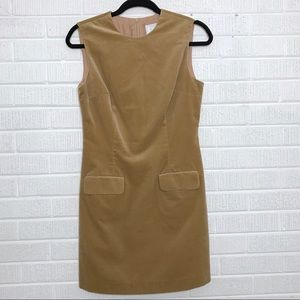 Vintage Guess Collection Velvet Sheath Dress Camel
